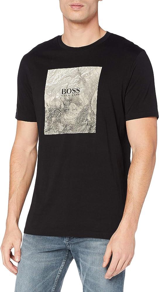 Boss,maglietta, t-shirt a maniche corte per uomo,100% cotone 50446474A