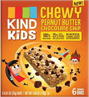 KIND Kid's Chewy Peanut Butter Chocolate Chip Granola Bars 4.86oz, pack of 1
