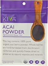 Kiva Organic Acai Berry Powder - Freeze-Dried, Non-GMO, RAW, Vegan (4.0-Ounce)