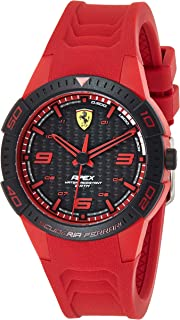 Ferrari Unisex-Adult Quartz Watch, Analog Display and Silicone Strap 840033