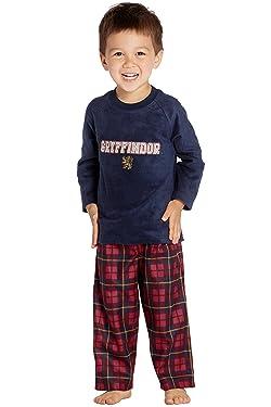 Harry Potter Gryffindor Lion Christmas Plush Holiday Toddler Plaid Pajama Set