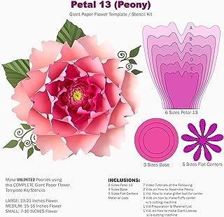 peony petal template