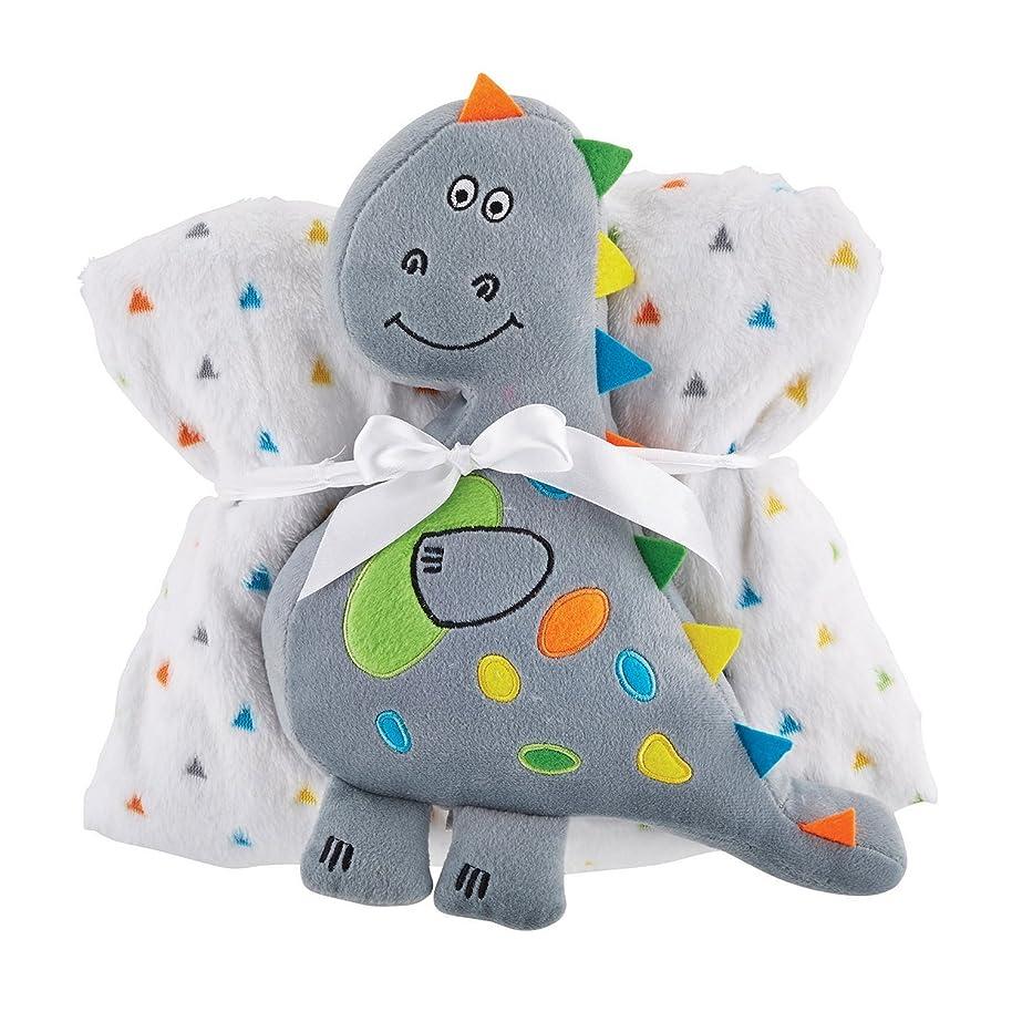 Stephan Baby Snuggle Fleece Crib Blanket and Plush Toy Set, Dinosaur