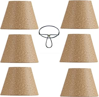 Mini Chandelier Shades Clip On Small Lamp Shade Set of Six Natural Cork Set of Six