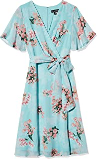 Jessica Howard womens Butterfly Sleeve Fit and Flare Dress Casual Dress