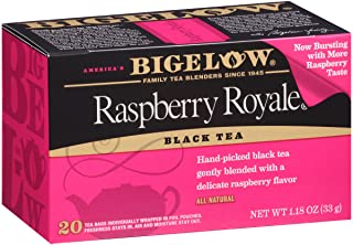 Bigelow Raspberry Royale Black Tea Bags 20-Count Boxes (Pack of 6), Caffeinated 120 Tea Bags Total