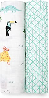 aden + anais Around The World Classic Swaddles 2 Pack, Multi, 2 Count