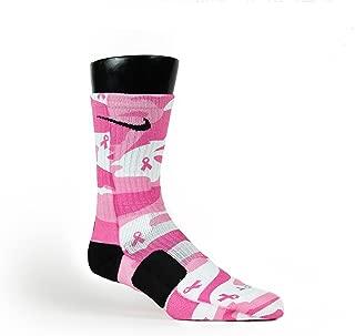 Breast Cancer Camo Custom Elite Socks