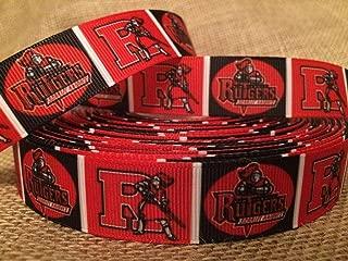 Football Ribbon Grosgrain Rutgers University Hair Bows Crafts 1 Yard