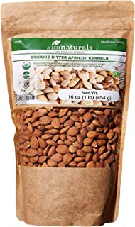 Bitter Apricot Kernels Organic Raw (1LB)-100% USDA Organic Certified– Bitter Apricot Seeds Organic Raw - Made in Turkey (Free Electronic Book)