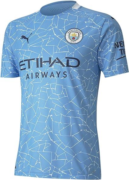 Amazon Com Puma Mens Manchester City Authentic Home Shirt 2020 2021 Clothing