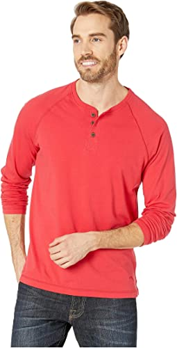 Long Sleeve Henley Lounge Tee