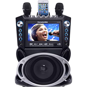 """Karaoke USA GF840 DVD/CDG/MP3G Karaoke Machine with 7"""" TFT Color Screen with Record and Bluetooth"""