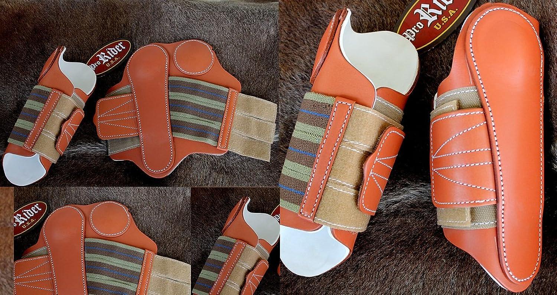 Amish Medium Horse Equine Leather Sports Medicine Splint Boots Tack 4122