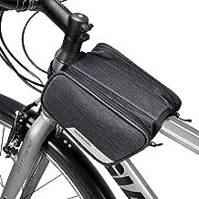 Winkeyes Bike Frame Bag Top Tube, Front Bag, Bicycle Handlebar Bag Outdoor Cycling Bike BagPack Storage for IPhone X Wallet Keys Snacks Sunglasses Water Resistant