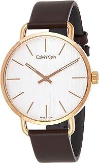 Calvin Klein Women's Analogue Quartz Watch with Leather Strap K7B216G6
