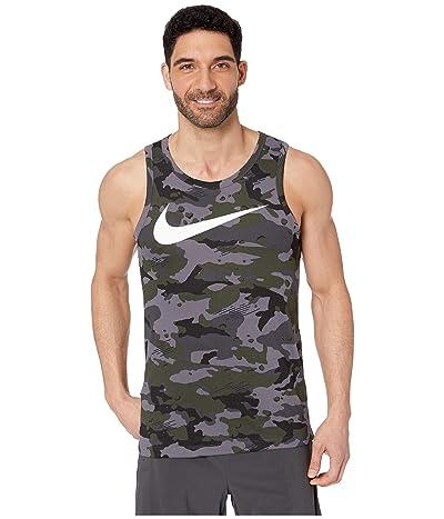 Nike Dry Tank Dri-FITtm Cotton Swoosh Camo (Dark Grey/Black/White) Men