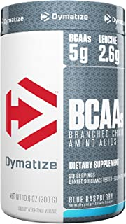 Dymatize BCAA Complex 5050 Powder, Promotes Muscle Regeneration, Time Released Aminos, Blue Raspberry, 10.6 Oz