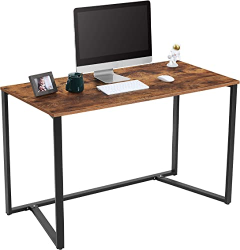 """wholesale Yifeel wholesale Computer Desk,47.2"""" Study new arrival Writing Desk for Home Office Notebook Desks,Industrial Simple Style Laptop Table,Rustic Brown,Black Metal Frame sale"""