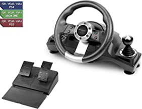 Subsonic SA5156 - Drive Pro Sport Racing Wheel for Playstation 4, PS4 Slim, PS4 Pro, Xbox One, Xbox One S and PS3