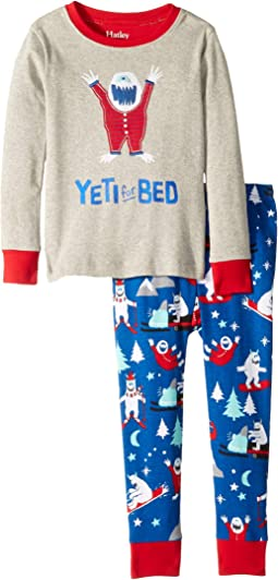 Yeti for Bed Organic Cotton Applique Pajama Set (Toddler/Little Kids/Big Kids)