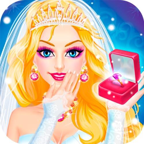 Princesa Quiere Conseguir Casado - Novia Vestir y Maquillaje