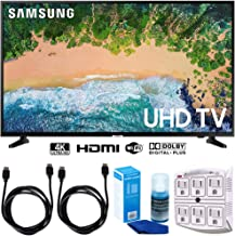 """$549 » Samsung UN55NU6900 55"""" NU6900 Smart 4K UHD TV (2018) w/Accessories Bundle Includes, 2X 6ft HDMI Cable, LED TV Screen Cleaner (Large Bottle) and SurgePro 6-Outlet Surge Adapter w/Night Light"""
