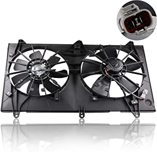 MOSTPLUS Radiator Condenser Cooling Fan Assembly for 2003 2004 2005 2006 2007 Honda Accord Replaces 19015RAAA01
