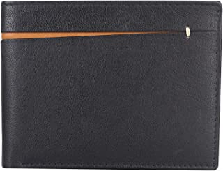 Amicraft Men's RFID Genuine Leather Black Wallet AC-131