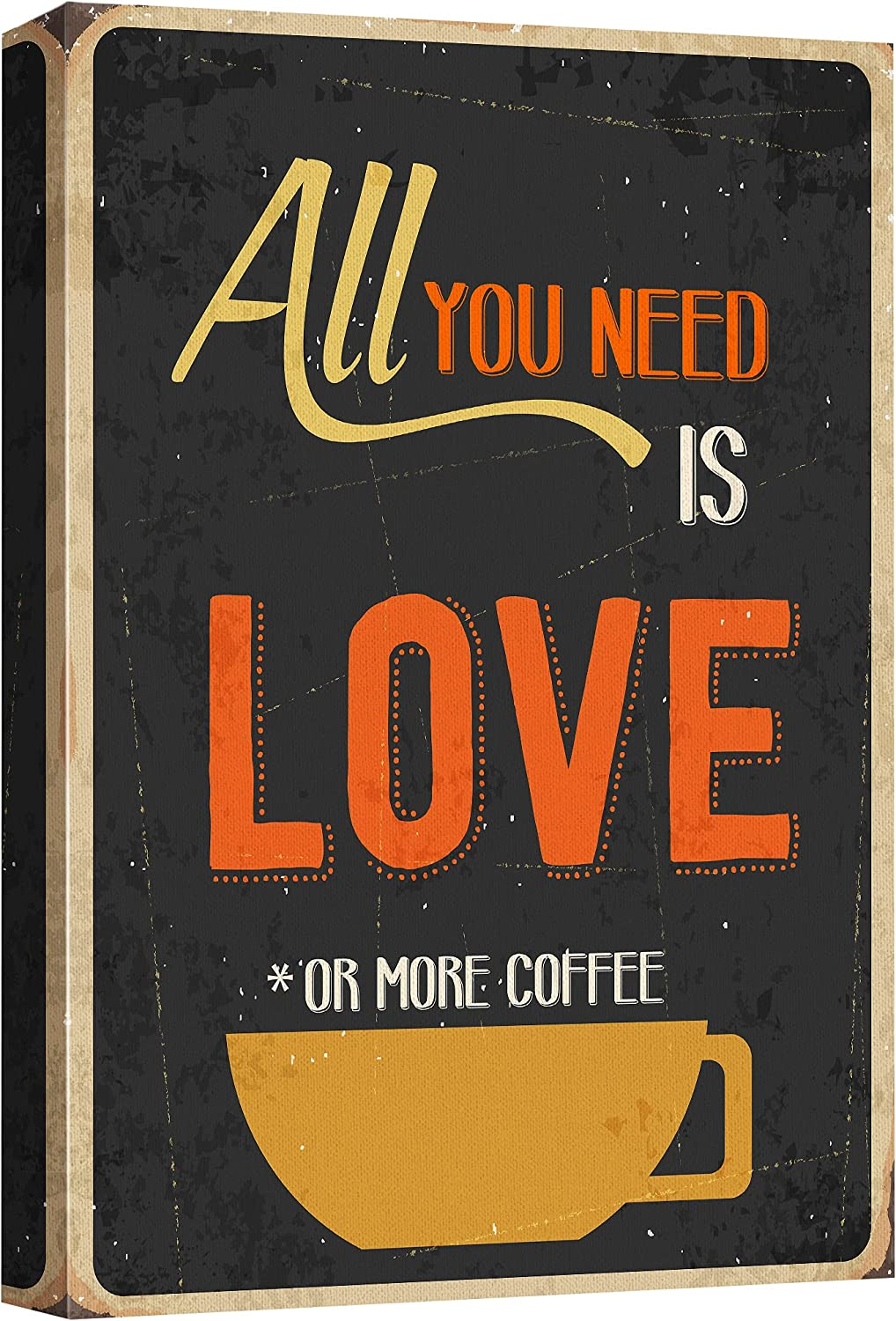 wall26 Canvas Denver Mall Wall Art - Fixed price for sale Vintage Style Gicle Coffee Poster
