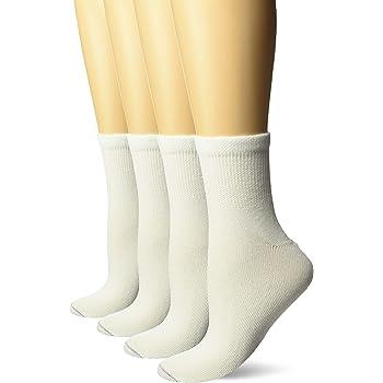 Ladies Soft Cotton EXTRA WIDE Medical Non Binding Diabetic Socks 4-8 Uk White