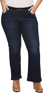5c649f46353 Lucky Brand Women s Plus Size Mid Rise Ginger Petite Boot Jean in Twilight  Blue