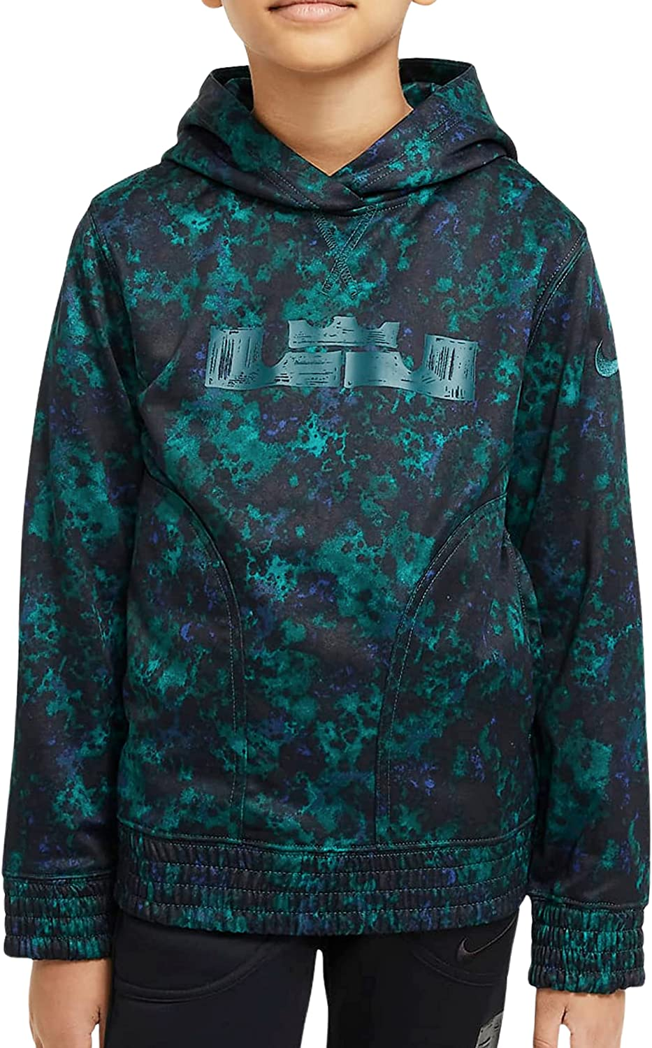 Nike Youth Boys Therma Dri Fit Hoodie Pullover Size Large 13/15 Green
