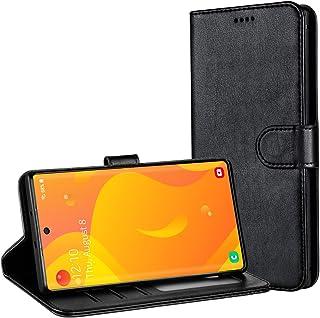 TAMOWA fodral till Samsung Galaxy Note 10, plånboksfodral i läder flip fodral för Samsung Galaxy Note 10 (kortfack) (ställ...