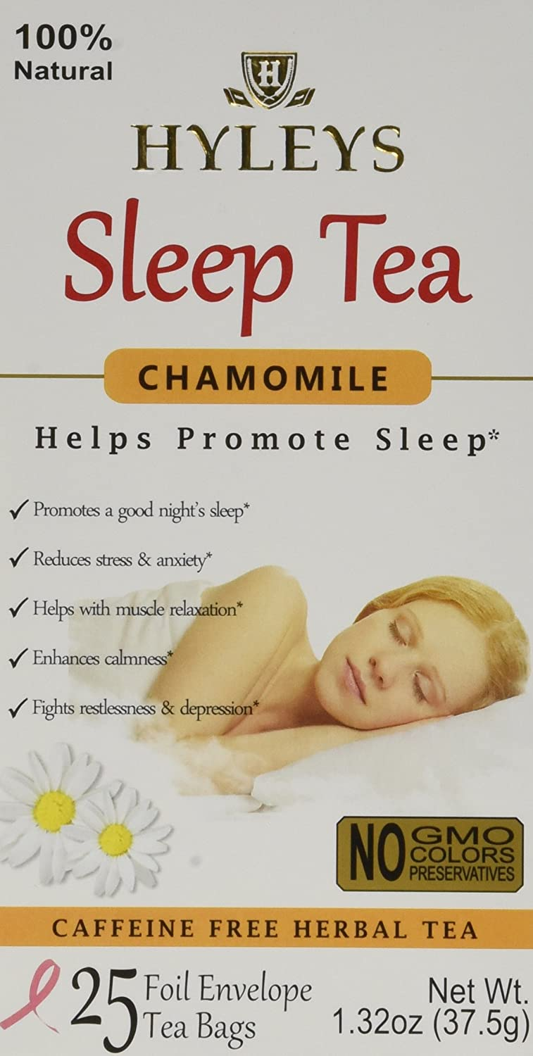 HYLEYS Tea Sleep, Chamomile, 25 Count (Pack of 12)