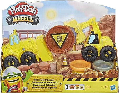 Play-Doh Wheels – Pate A Modeler - Pelleteuse et Bulldozer