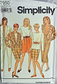 Simplicity Pattern 7950 Size P 12-16