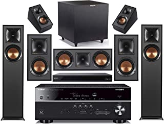 Yamaha 7.2-Channel Wireless Bluetooth 4K 3D A/V Surround Sound Receiver + Klipsch Multimedia Home Theater Speaker System