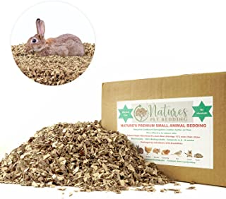 Natures Premium Animal Bedding (Chickens, Rabbits, Hamsters and Other Pets) Featuring Recycled Cardboard, Reduces Odor, Biodegradable, 99% Dust Free, no Chemicals Litter