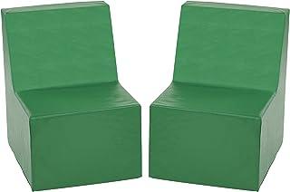 ECR4Kids Softzone Toddler Chair, Green (2-Pack)