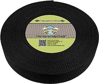 Country Brook Design - Black Polypropylene 2 Inch Webbing (25 Yards)