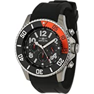 """Invicta Men's 13727 """"Pro Diver"""" Stainless Steel Watch with Black Band"""