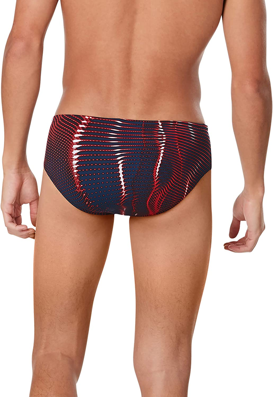 Printed Team Colors Speedo Mens Swimsuit Brief Endurance