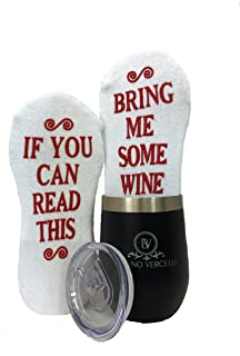 Wine Lover Gift Set, Cozy Socks with Wine Tumbler