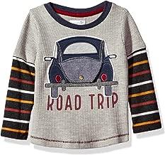 Mud Pie Baby Boys' Toddler Road Trip Long Sleeve Layered Raglan T-Shirt