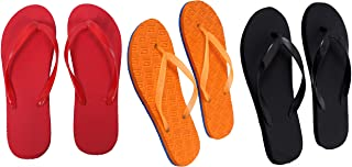 Red, Orange And Black Combo 3 Women's House Slippers