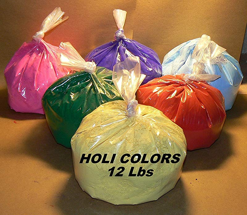 HOLI Colors 12 Lbs 6 Colors 2lbs Ea Color RED YELLOW PINK BLUE GREEN AND PURPLE SHIPS FROM LOS ANGELES 3 TO 6 DAYS DELIVERY