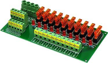 20Amp 2x10 Position Barrier Terminal Block Distribution Module for AC DC