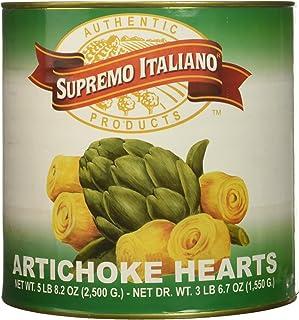 Supremo Italiano Whole Artichoke Hearts, 55 Ounce