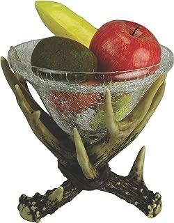 REP Deer Antler Glass Dish 10